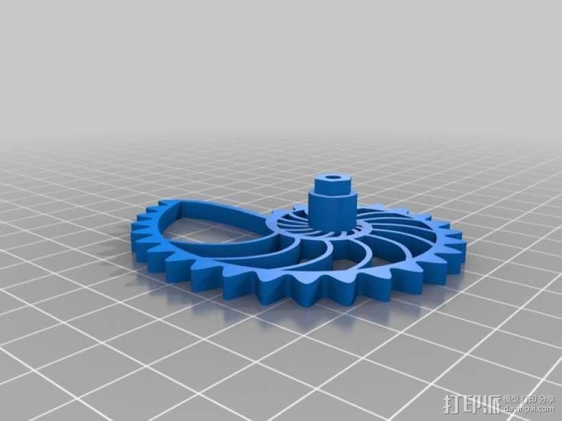 鹦鹉螺齿轮 3D模型  图2