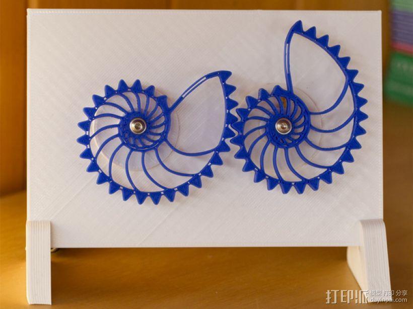 鹦鹉螺齿轮 3D模型  图1