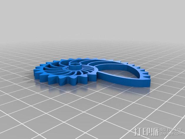 鹦鹉螺齿轮 3D模型  图3