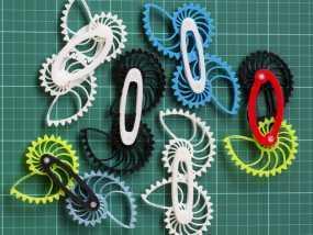 鹦鹉螺齿轮(带连杆) 3D模型