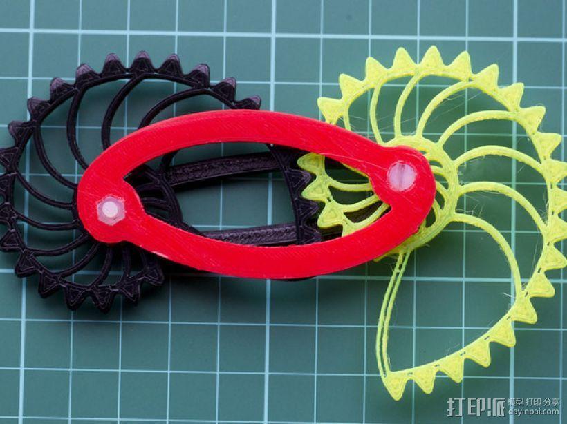 鹦鹉螺齿轮(带连杆) 3D模型  图6