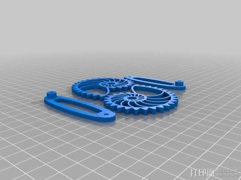 鹦鹉螺齿轮(带连杆) 3D模型  图7