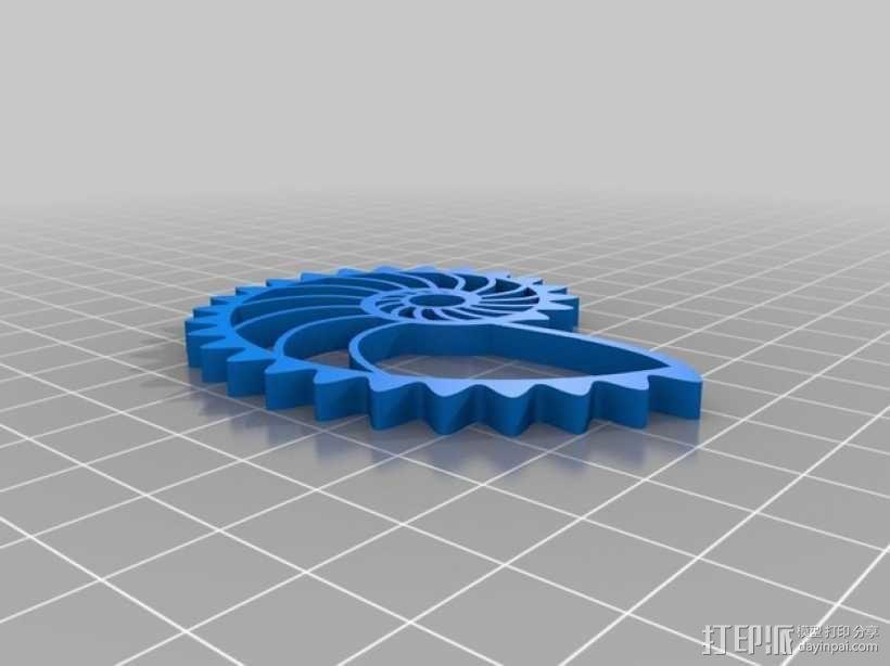 鹦鹉螺齿轮(带连杆) 3D模型  图8