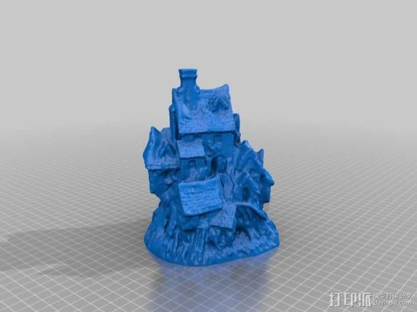 岩石屋 模型 3D模型  图2
