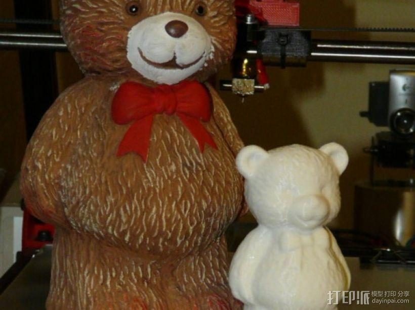 小熊存钱罐 3D模型  图1