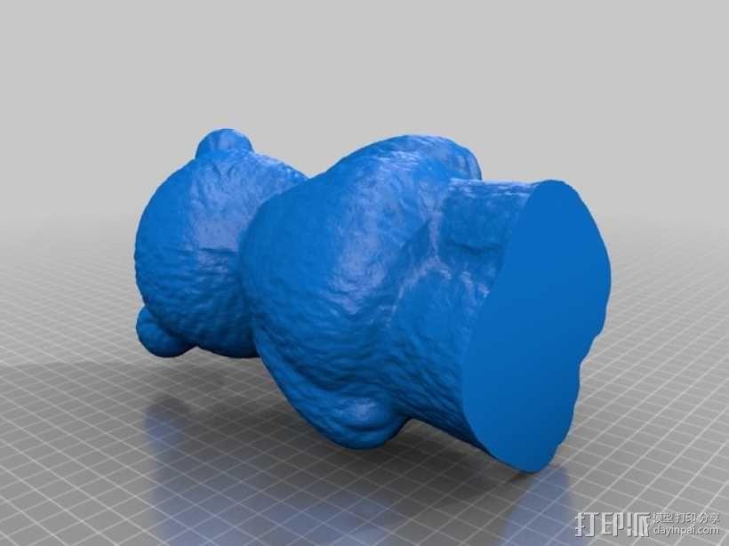小熊存钱罐 3D模型  图2