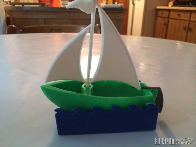 帆船模型 3D模型  图1