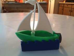 帆船模型 3D模型
