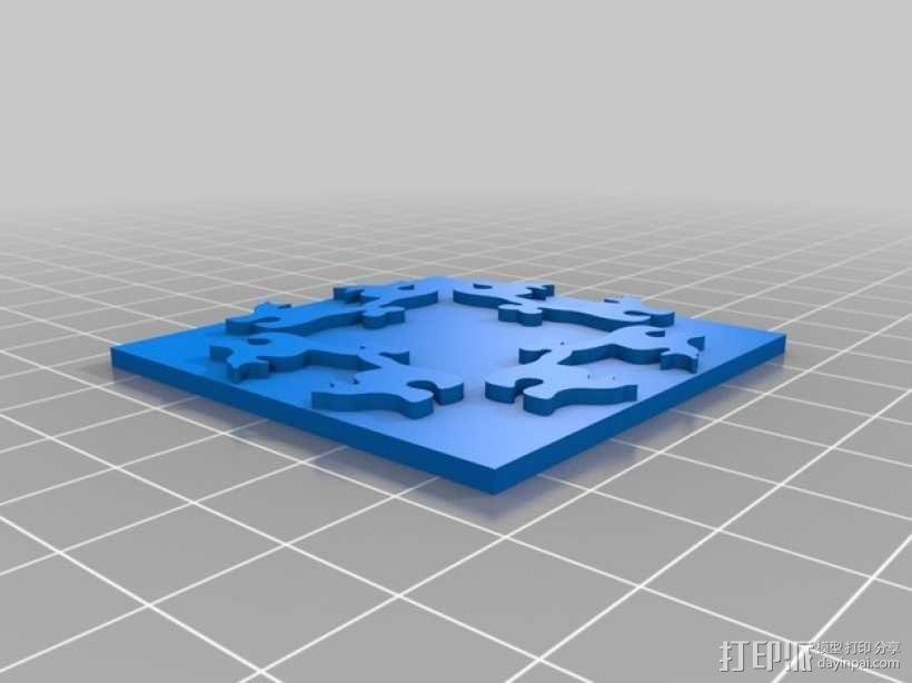 小猫多边形方块 3D模型  图3