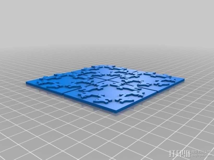小猫多边形方块 3D模型  图6