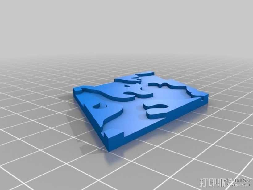 小猫多边形方块 3D模型  图8