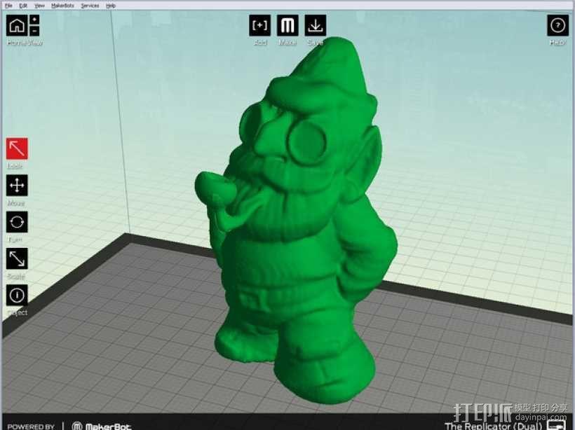 小矮人夏洛克 模型 3D模型  图1
