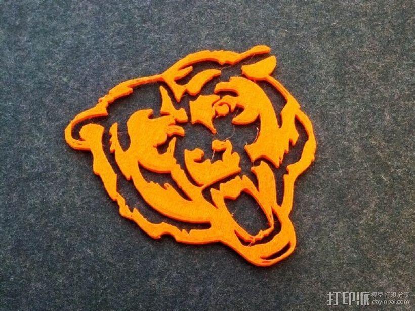 芝加哥熊队标志 3D模型  图1