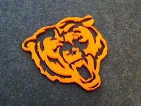 芝加哥熊队标志 3D模型