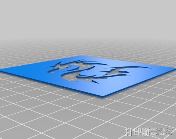 龙形蜡板 3D模型  图1