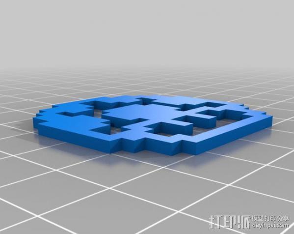 马里奥蘑菇  3D模型  图2