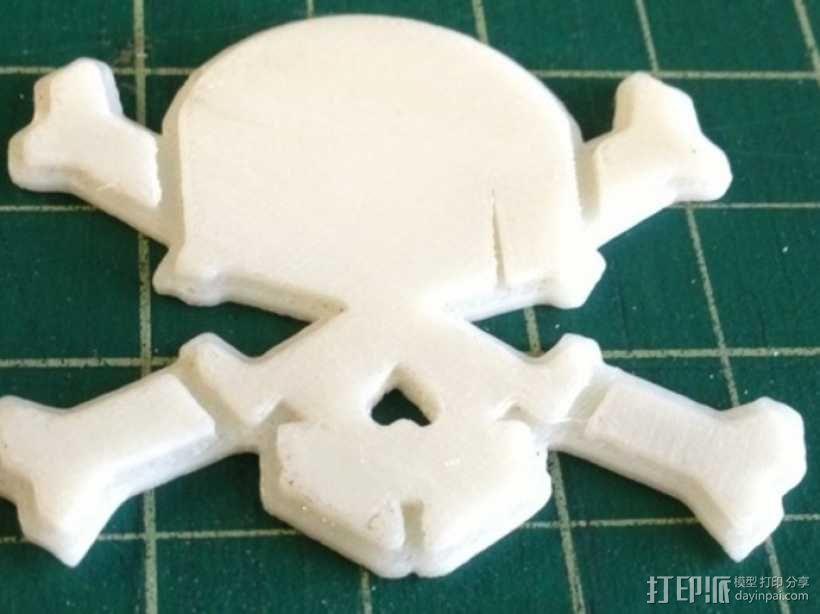 头骨和十字骨架 3D模型  图1
