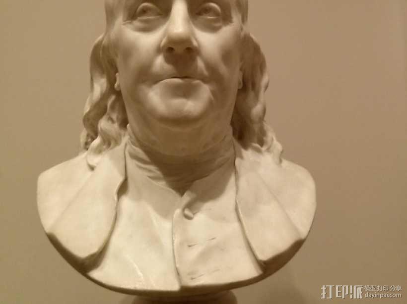 本杰明富兰克林半身像 3D模型  图1