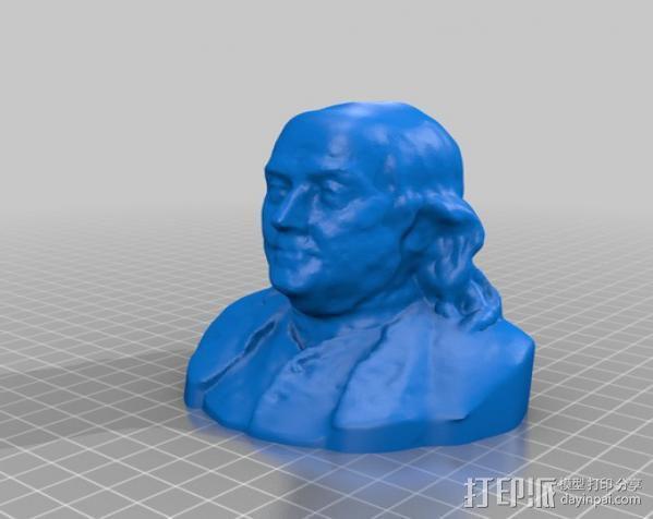 本杰明富兰克林半身像 3D模型  图2
