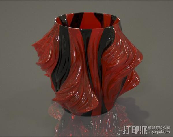 Julia 花瓶 3D模型  图1