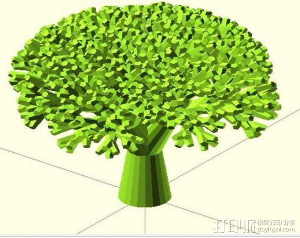 递归树 树模型 3D模型  图2