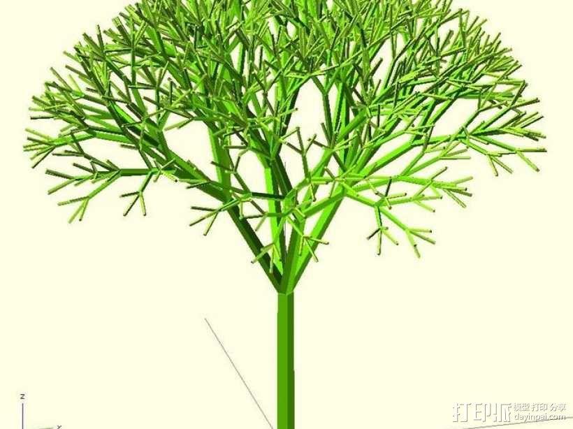 递归树 树模型 3D模型  图1