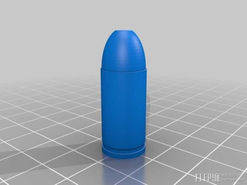 参数化子弹模型 3D模型  图3