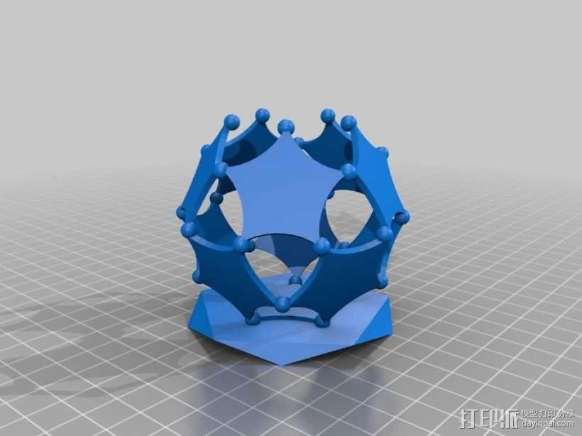 阿基米德多面体铅笔筒 3D模型  图2