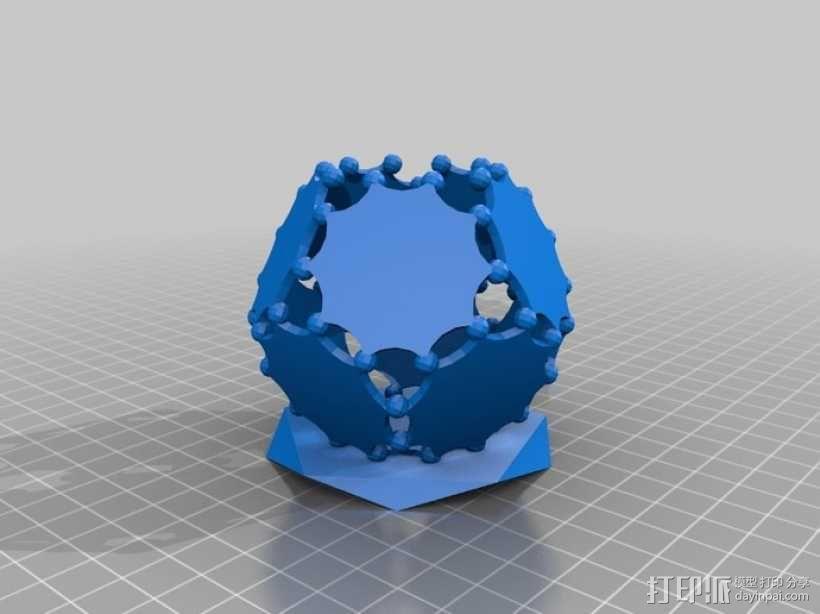 阿基米德多面体铅笔筒 3D模型  图3