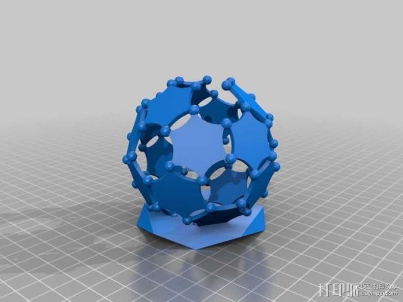 阿基米德多面体铅笔筒 3D模型  图4