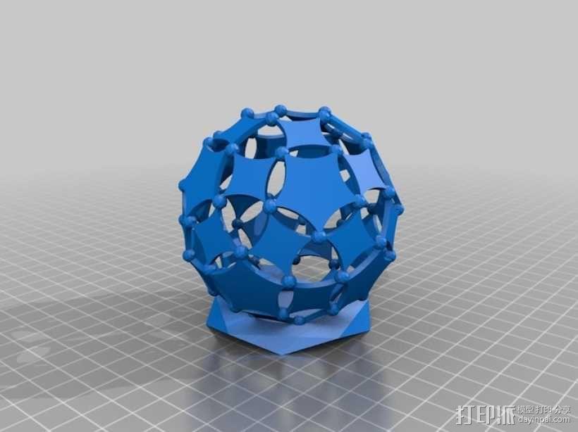 阿基米德多面体铅笔筒 3D模型  图5