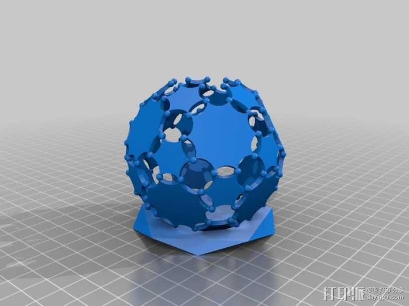 阿基米德多面体铅笔筒 3D模型  图6