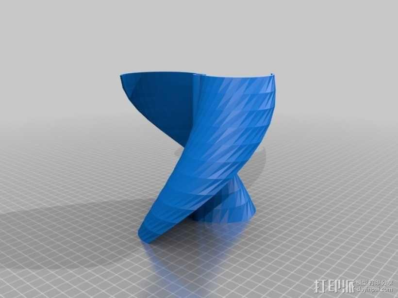 涡轮机风车叶片 3D模型  图2