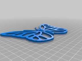 蝴蝶装饰 墙贴 3D模型