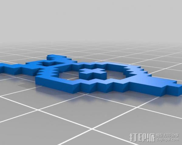 像素图形小精灵  3D模型  图2