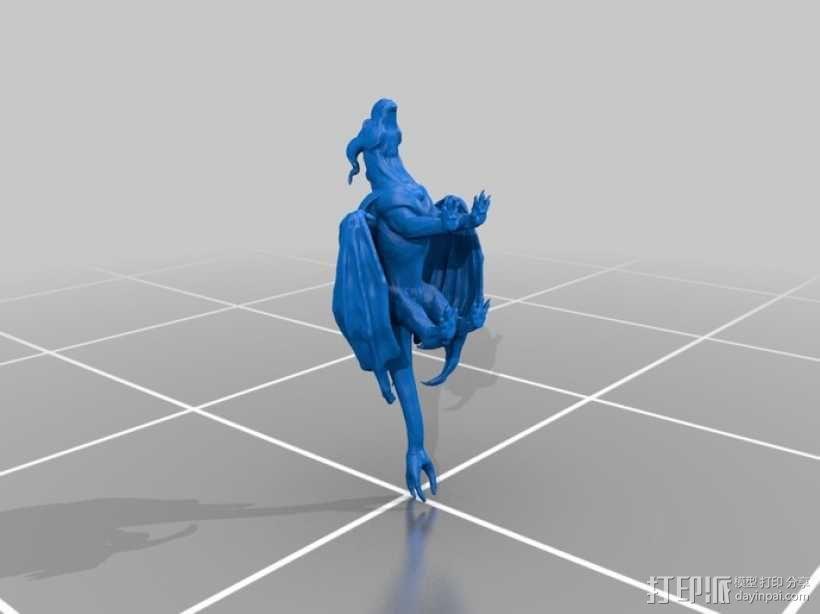 三尾龙模型 3D模型  图2