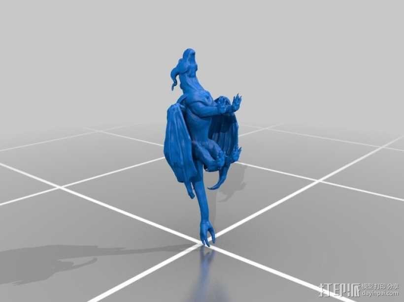 三尾龙模型 3D模型  图3