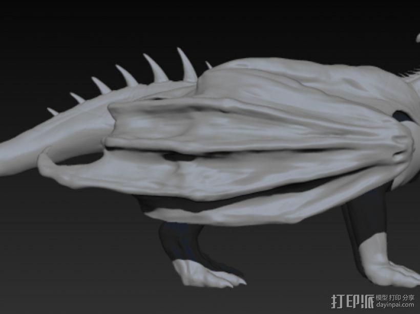三尾龙模型 3D模型  图4