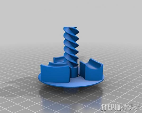 三联齿轮底盘和轮轴 3D模型  图2