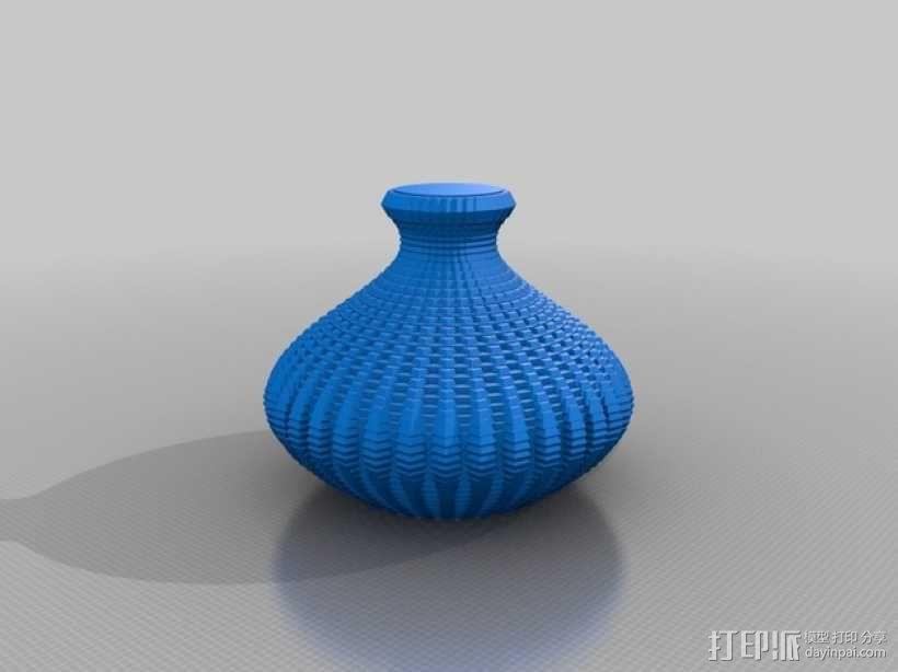 正弦波形花瓶 3D模型  图1