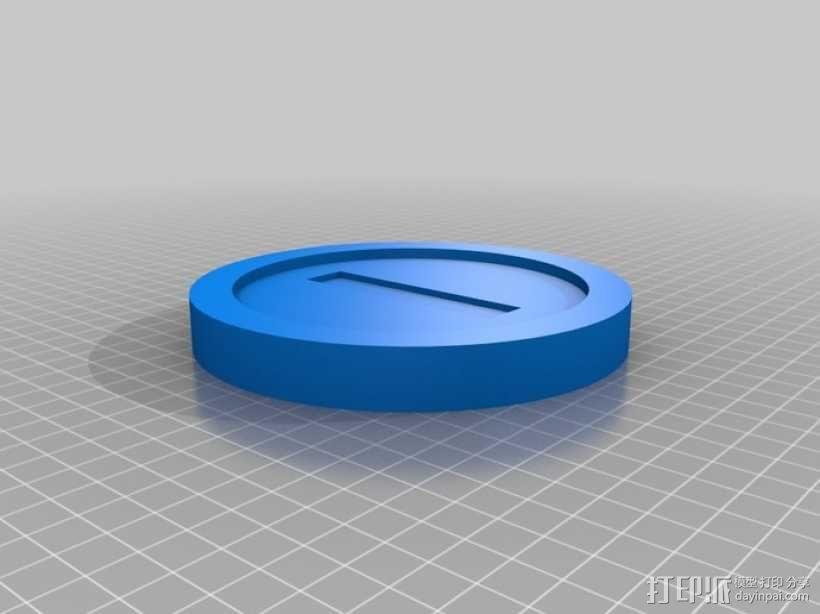 马里奥的硬币 3D模型  图1