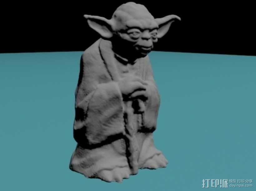 尤达大师 3D模型  图1