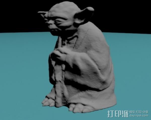 尤达大师 3D模型  图3