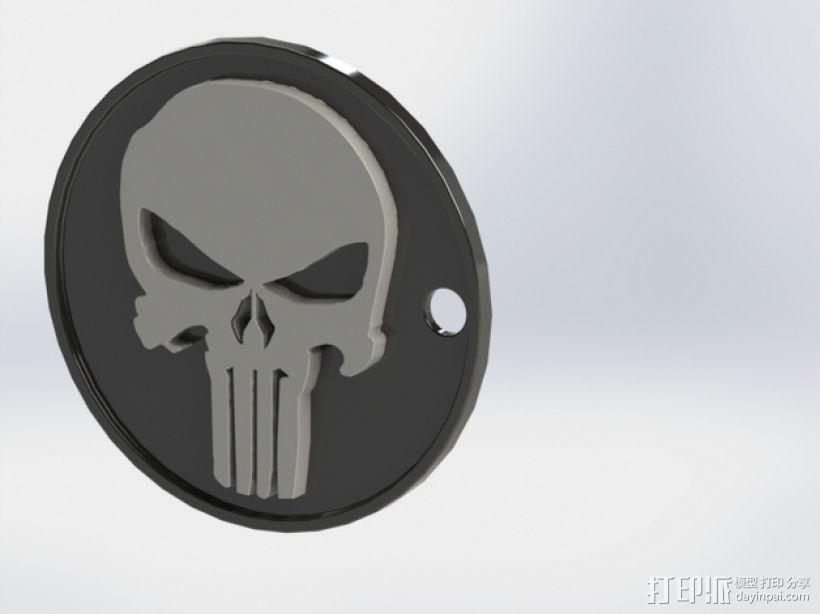 骷髅头钥匙扣 3D模型  图1
