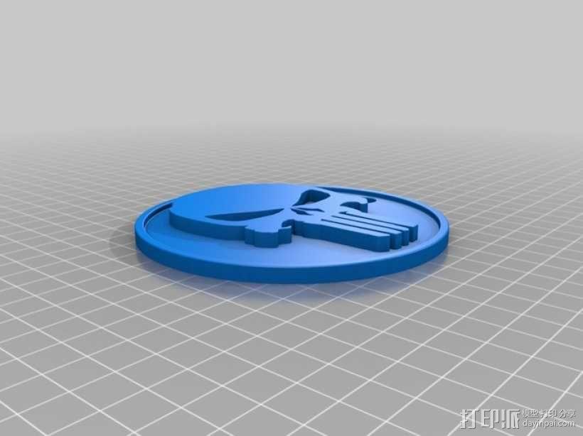 骷髅头钥匙扣 3D模型  图2
