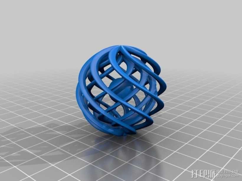 巢状式小球 3D模型  图3
