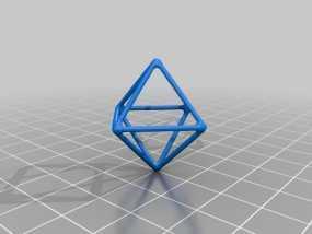 线框钻石模型 3D模型