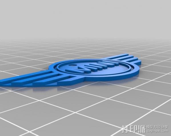 迷你库柏徽章 3D模型  图2