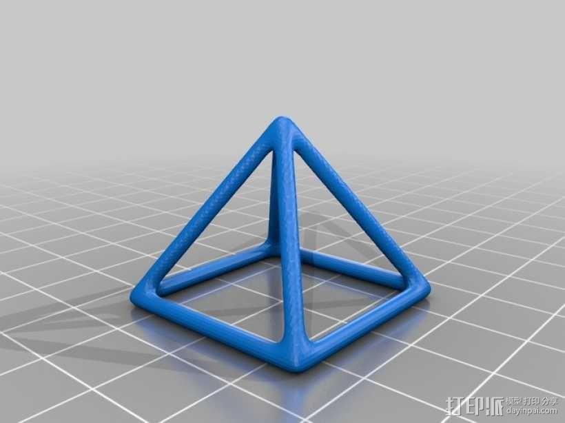 线框椎体 3D模型  图1