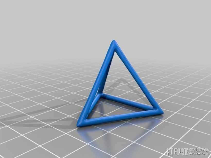 线框式三角锥 3D模型  图1